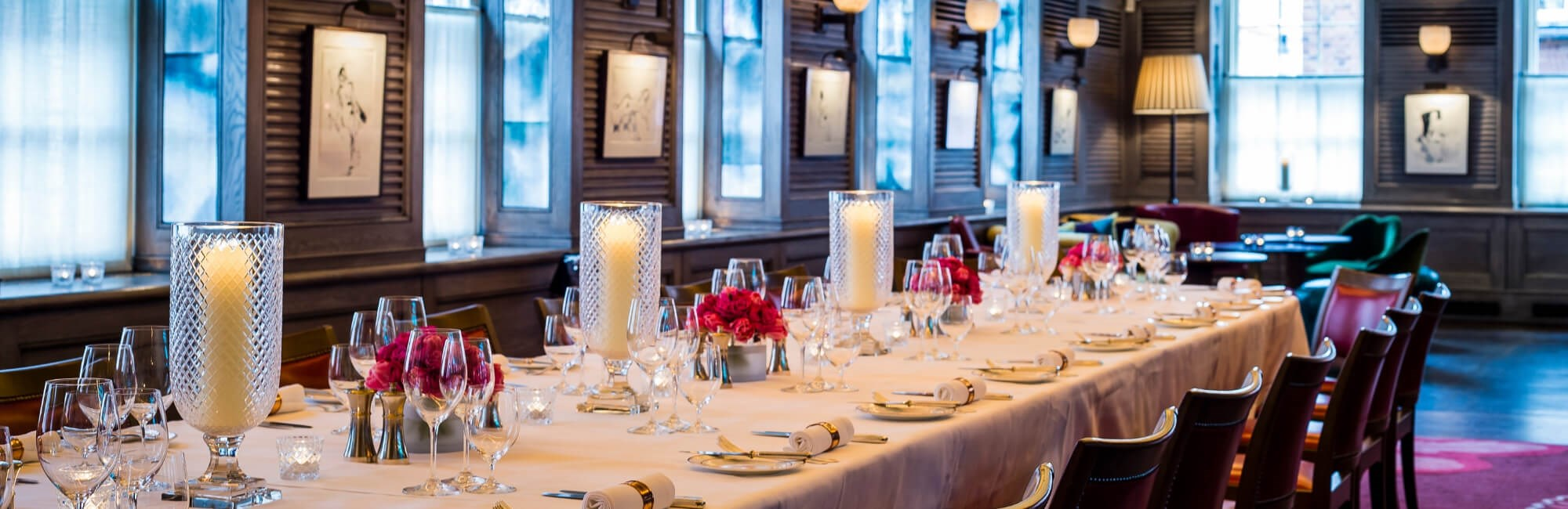 Private Dining Room Available to Hire in Mayfair at 34 Mayfair. The room is suitable for birthday, wedding or anniversary celebrations.