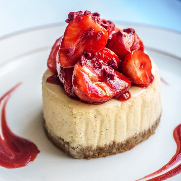 Restaurant for Dinner in Mayfair at 34 Mayfair, Strawberry Cheesecake