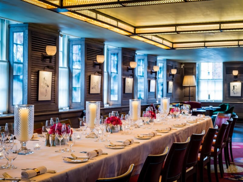 Group Dining Room at 34 Mayfair in London. Ideal for special celebrations.