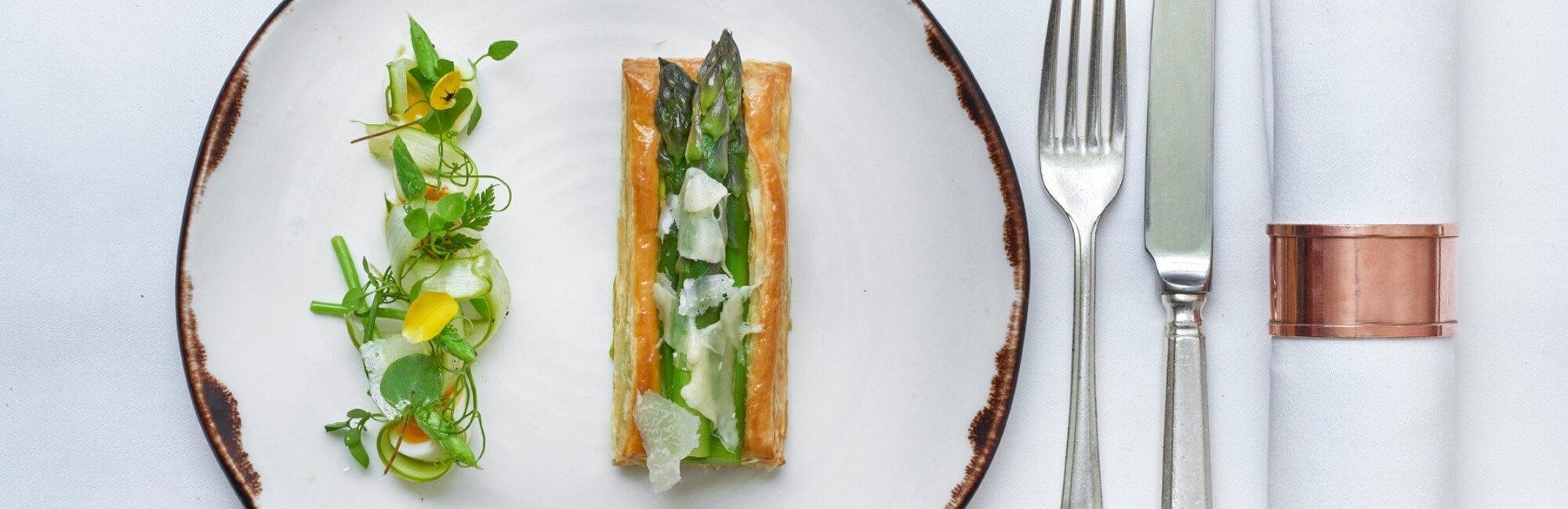 Norfolk Asparagus dishes available on the menu at 34 Mayfair, London